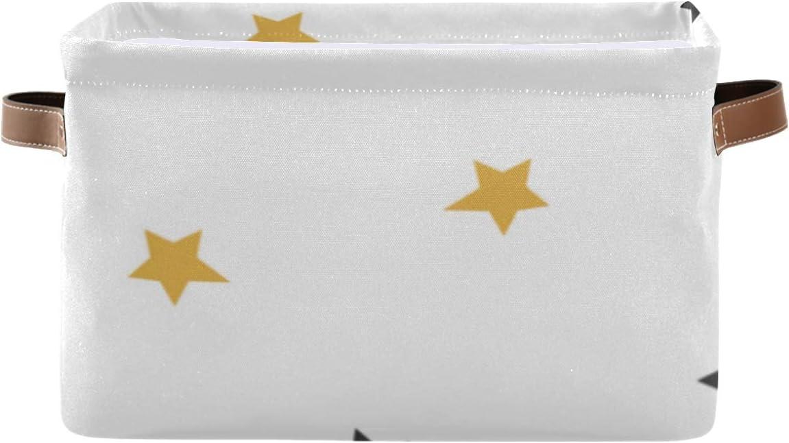 Max 79% OFF Rectangular Storage Boxes Stars New item Organizer col Fabric Bin