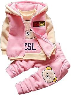159892afa1e62 Gyratedream Ensemble de Vêtements pour Bébé Garçon Fille Survêtements Épais  T-Shirt + Sweat à