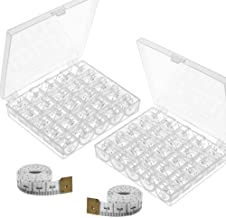 Paxcoo 50 Pcs Sewing Machine Bobbins with Case for Brother Singer Janome Kenmore