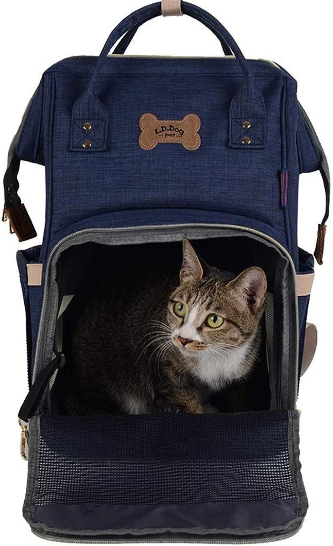 New Pet Bag Pet Backpack Cat Dog Out Pet Bag Chest Back Handbag Pure Black