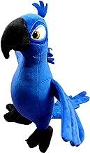 OlgaToys Kids Children Eco-friendly Christmas Cartoon Entertainment Rio Parrot Birthday Gift Plush Doll Toys Deepblue 30cm