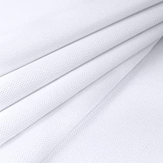 Pllieay 14 Count Big Size Classic Reserve Aida Cloth White Cross Stitch Fabric, 59 x 39 Inch