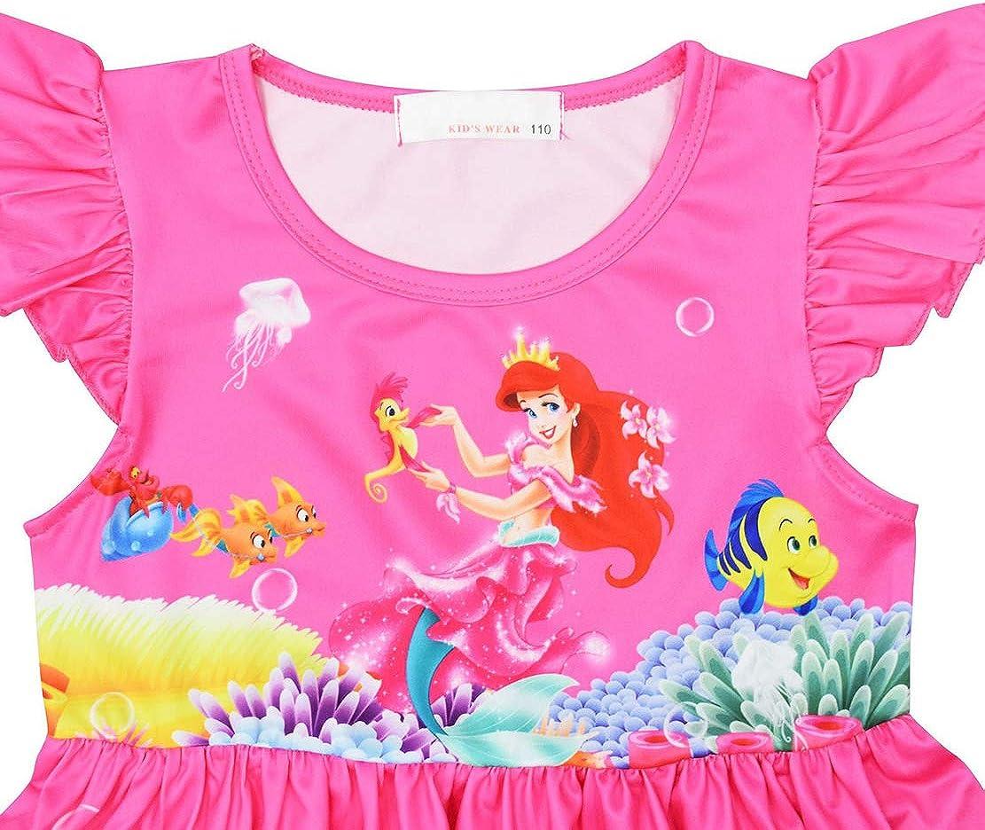 WNQY Toddler Girls Baby Princess Pajamas Cartoon Print Nightgown Dress