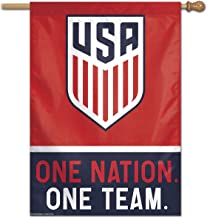 WinCraft USA One Nation One Team Soccer Banner Flag and Banner Flag