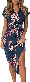Dearlove Women's Wrap V Neck Spaghetti Strap Floral Split...