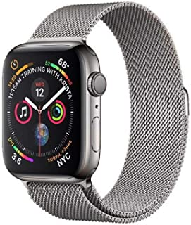 WATCH Compatible Apple Watch Band 42/44mm Series SE/6/5/4,Stainless Steel Metal For iWatch bands Multiple Colors. (Silver)