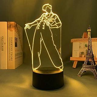 Luz de noche 3D Lámpara de Harry Styles Regalo para fanáticos Luz de decoración de dormitorio Sensor táctil LED Lámpara de...