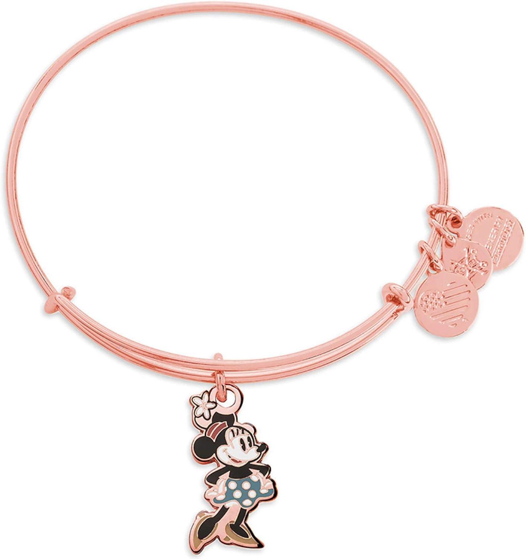 Disney Parks Alex and ANI Bangle Bracelet - Rose Gold Classic Silhouette Minnie Mouse