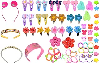 NAKAS Baby Hair Band; Mix Style Tic Tac; Hair Clips; Pin; Elastics Ponytail Holder Hair Accessories for Girls ; 67 Pieces/...