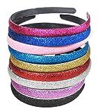 Set di 9 cerchietti per capelli, per donne/ragazze, di colori misti, glitterati