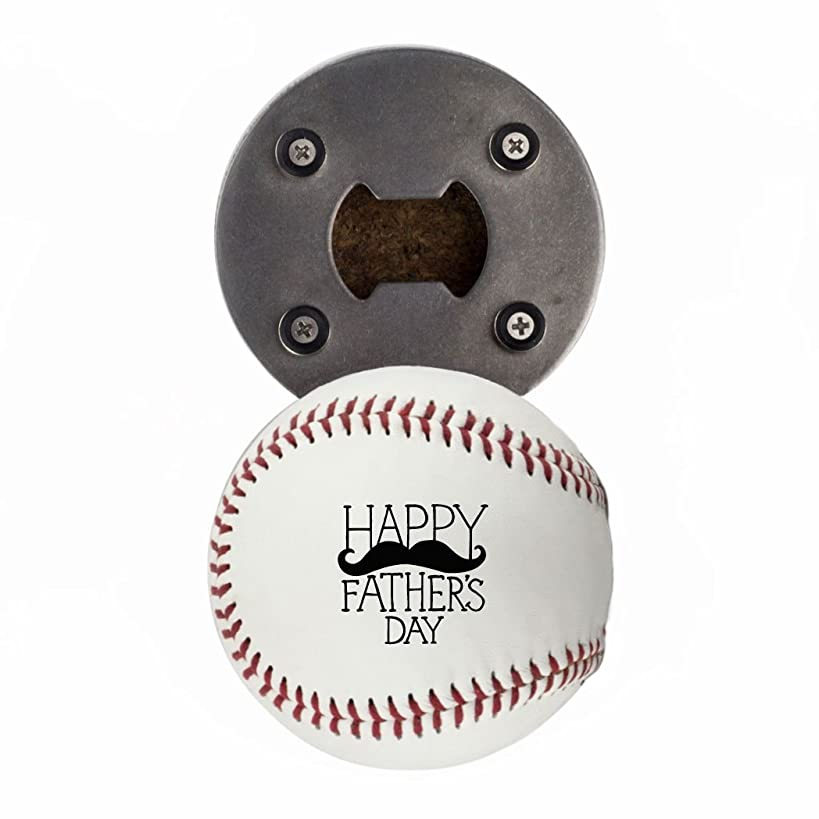 Father's Day Bottle Opener, Made from a real Baseball, Happy Father's Day, Cap Catcher, Fridge Magnet