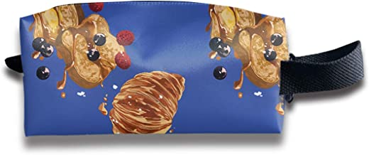 Makeup Cosmetic Bag Sweet Breakfast Bread Love Medicine Bag Zip Travel Portable Storage Pouch For Mens Womens