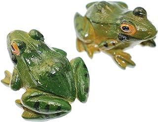 Speed mao リアルな 蛙 カエル 置物 2匹セット インテリア オブジェに