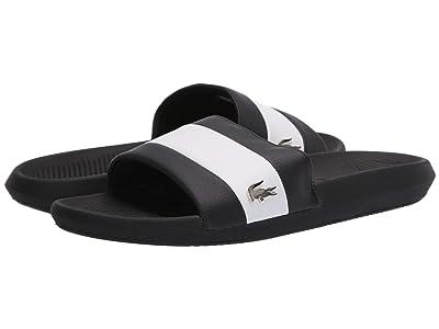 Lacoste Croco Slide 120 3 US (Black/White) Men