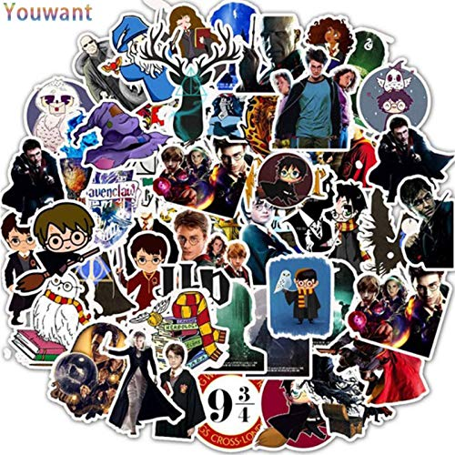 None/Brand Youwant 50Pcs Harried Stickers Funny Anime Potter Waterproof for Phone Laptop Scrapbook Scooter Toys for Children Hobbies