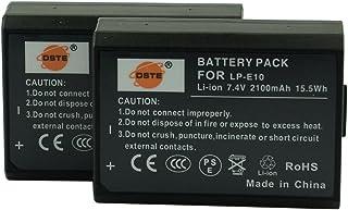 DSTE 2x LP-E10 Li-ion Batería para Canon EOS Rebel T3 EOS KISS X50 EOS 1100D EOS Rebel T5 EOS Kiss X70 EOS 1200D