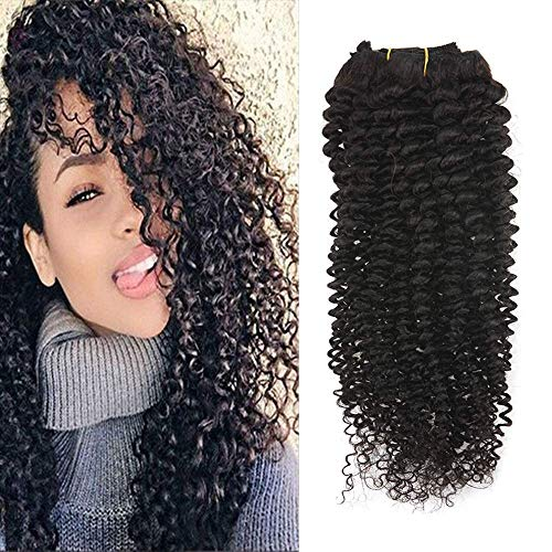 Full Shine 10' 7 Pcs 100g Curly Hair Clip Ins For African Hair Extensions American Women...