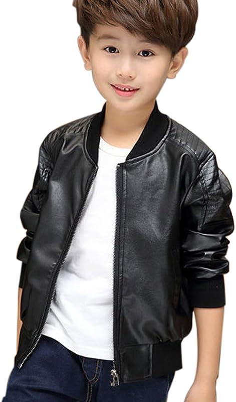 45539154a29d4 キッズ 子供 ジャケット ライダースジャケット 男の子 PUレザージャケット キッズ服 春秋 ジャケット