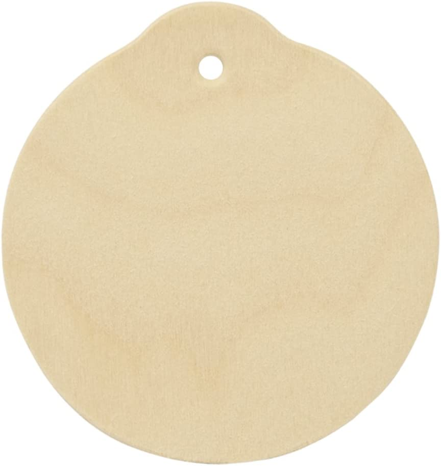 170434 Scalloped Circle Ornament Blank 4 Christmas Ornament Unfinished wood