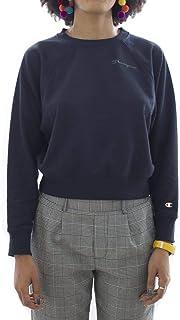 Champion 111277 BS501NNY Women's Crewneck Crop Top, Small, Blue