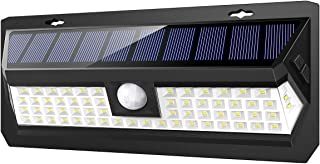 AMIR Solar Lights Outdoor, 62 LED Super Bright Motion Sensor Wall Lights, Wireless Garden Security Lights with 3 Modes, Waterproof & Auto On-Off for Front Door, Garage, Patio, Yard, Pathway
