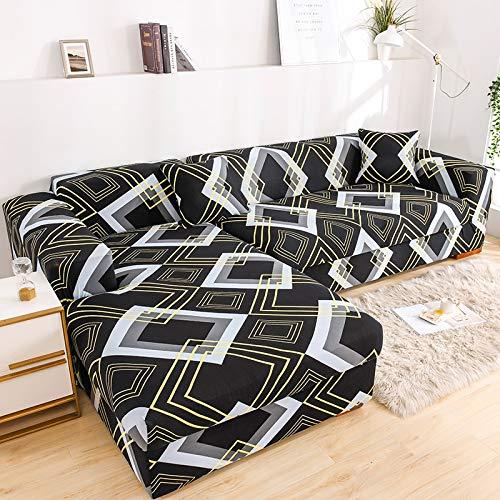 ASCV Fundas de sofá Fundas de sofá para Sala de Estar Funda de sofá elástica Funda de sofá seccional elástica A7 2 plazas