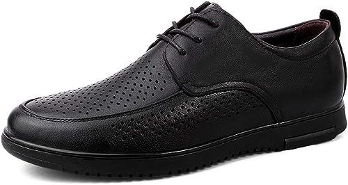 TYX-SS Chaussures Homme Quatre Saisons Saisons lacées Outillage Hommes Chaussures Grande Taille Cuir Angleterre  vente chaude en ligne