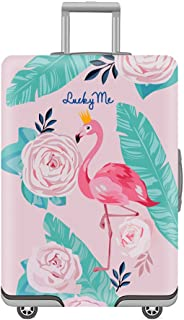 Travel Luggage Cover Washable Spandex Suitcase Cover, For 19-32 Inches Luggage (Flamingos, S)