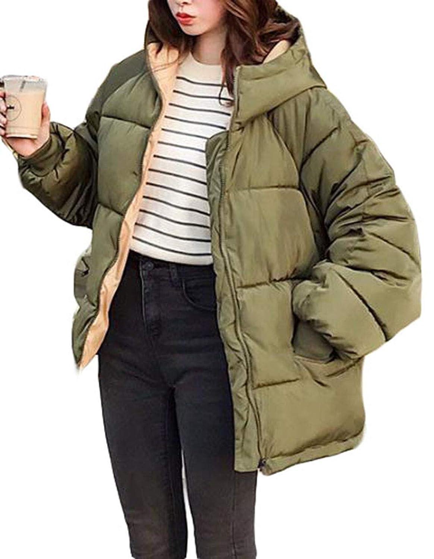 Gergeousレディース 中綿ジャケット ゆったり 長袖アウター 綿入れコート フード付き 防風 防寒着 冬服 アウター
