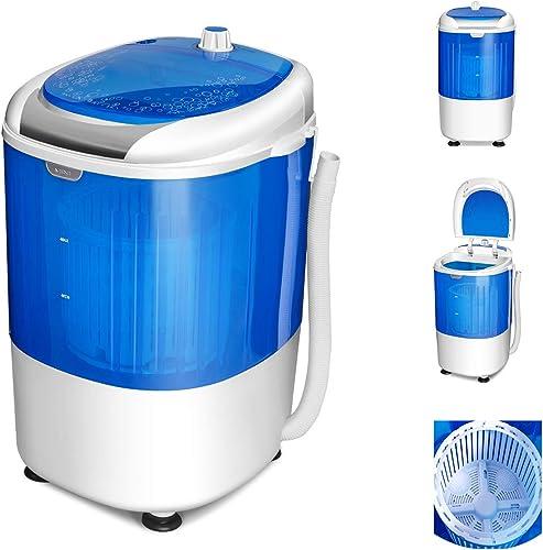 COSTWAY Mini Machine à Laver avec Essoreuse à Cuve Unique 2,5 KG Portable Semi Automatique avec Fonction de Chronomét...