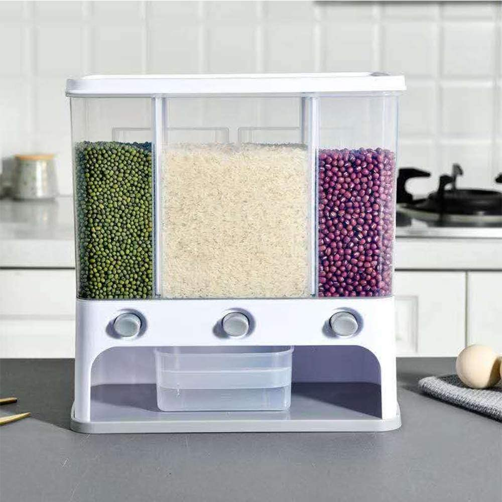Wall Long-awaited Mounted Dry Food Dispenser Grains Max 51% OFF - Bucket Whole Rice