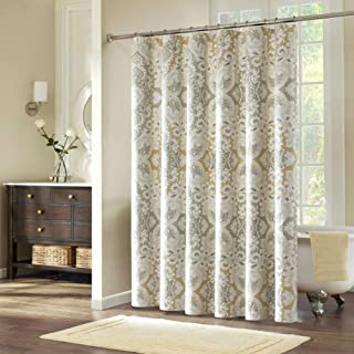 DS CURTAIN Palermo Shower Curtain,Waterproof Fabric Shower Curtain,Printed Shower Curtain,Polyester Shower Curtains for Ba...