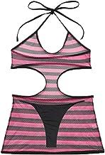 BBZUI Women Striped Patchwork Set One Piece Swimsuit
