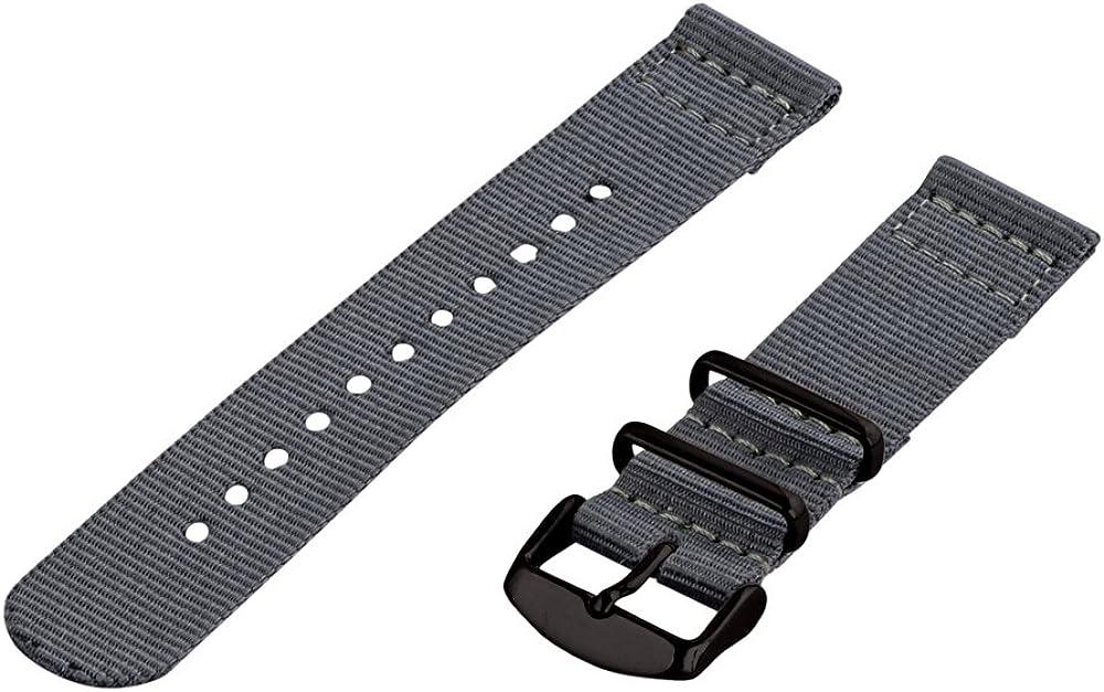 Clockwork Synergy - 16mm 2 Max 84% OFF Piece Seasonal Wrap Introduction Classic PVD NATO Nylon Grey Rep