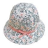 FEOYA Bonnet Bébé Fille Fleurs Imprimer Printemps été Chapeau Solaire en Coton...