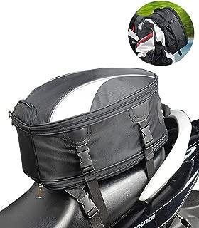 Meago Motorcycle Seat Bag Waterproof Commuter Helmet Bag/Backpack Motorbike Sport Tail Bag, 28 Liters