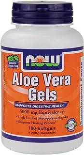 Now Foods Aloe Vera 5000 mg - 100 Softgels 12 Pack