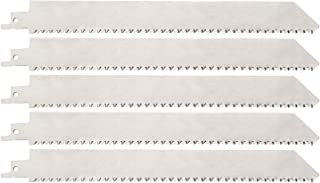 9 Inch Stainless Steel Sawzall Blade for Meat, Unpainted Stainless Steel Reciprocating Saw Blades for Food Cutting, Frozen Meat, Hamburger Meat, Beef, Sheep, Fish, Cured Ham, Turkey, Bone,5 Pack)