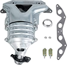 Goplus Manifold Catalytic Converter for 2001-2005 Honda CIVIC 1.7L L4 SOHC, Stainless Steel High Flow Exhaust Manifold, Replaces 18160-PLM-A00, 18160-PLM-A50