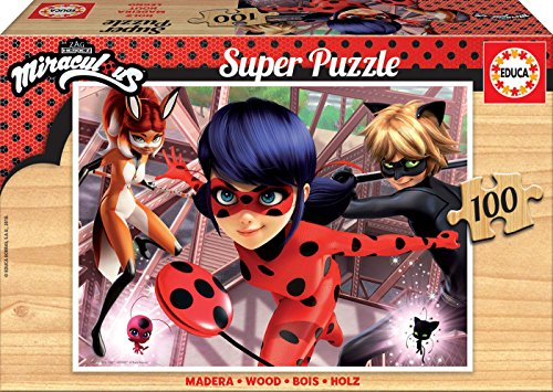 Educa- Ladybug Lady Bug Puzzle, 100 Piezas, Multicolor (17957)