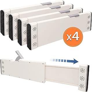 JONYJ Drawer Dividers, 4 Pack Expandable Drawer Dividers Organizers, Adjustable Separators 4