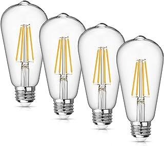 Vintage LED Edison Bulb Dimmable 8W Led Filament Light Bulb ST64 840 Lumen 3000K Soft White
