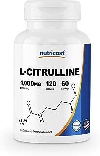 Nutricost L-Citrulline 500mg, 120 Capsules - Gluten Free, Non-GMO