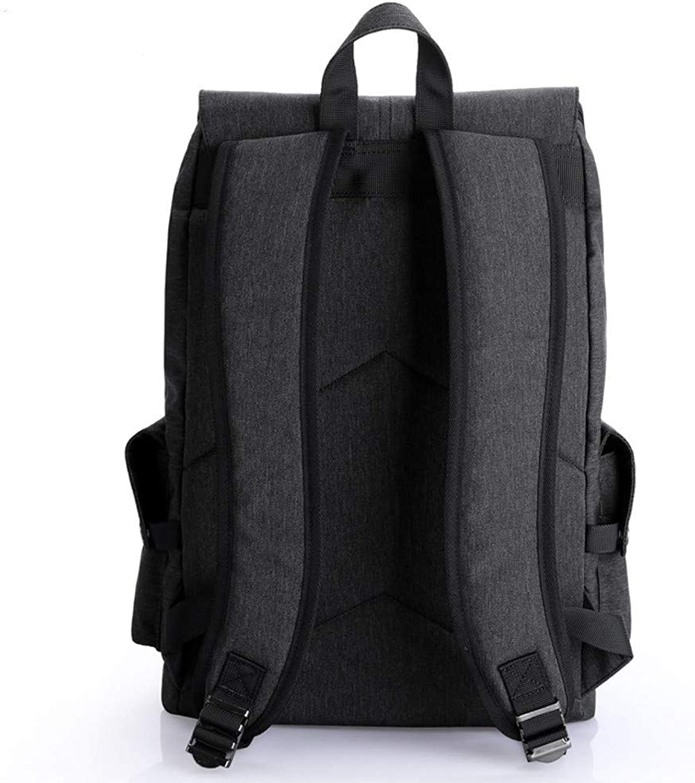 DYR Backpack MultiFunction Backpack MultiLayer Outdoor Travel Bag Casual Business Backpack USB Charging, Black