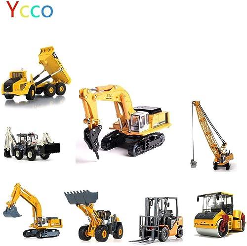 Ycco Ma ab 1 50 Diecast-Abschleppwagen Wrecker Stra modelle ModellbaufürzeugeBulldozer, Bagger, Gabelstapler, ZWeißege-Seilhacker, LKW, Stra walzen (Farbe   Suits (8 types))