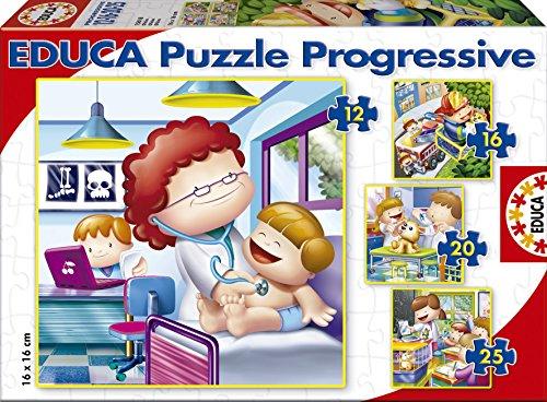 Puzzles Educa - Mayor Quiero Ser, Rompecabezas progresivos,