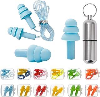 Zatyczki do uszu do ochrony słuchu, 12 par zatyczek do uszu – SNR 31dB, wykonane z silikonu wielokrotnego użytku, wodoodpo...