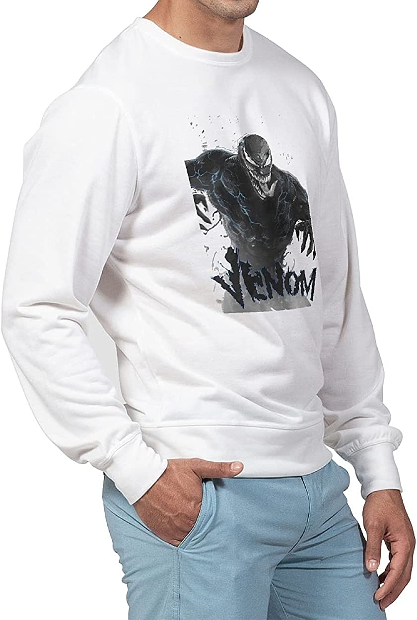 French Terry Men's Classic Crewneck Pullover Homewear Long Sleeve Lightweight