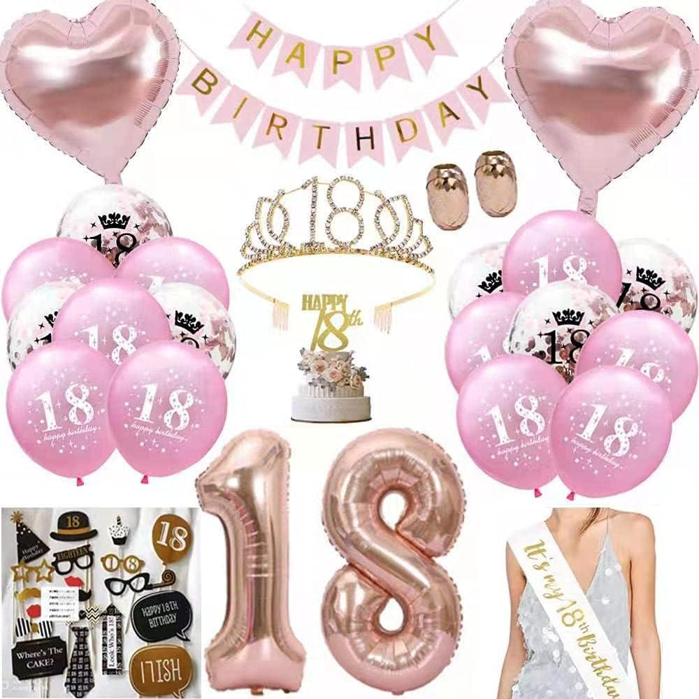 Anyingkai 18 Cumpleaños Globos,18 Años Cumpleaños Banda,18 Cumpleaños Chica,Decoración de Cumpleaños 18 Años,Decoracion de 18 Cumpleaños,18 Años Cumpleaños Decoracion