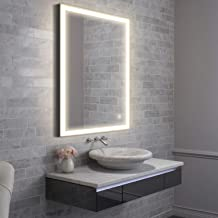 GETINLIGHT LED Wall Mounted Lighted and Defog Vanity Mirror with Touch Sensor Dimmer Switch, 3000K(Soft White), ETL Listed, Damp Location Rated, IN-0405-6-24-36-3K